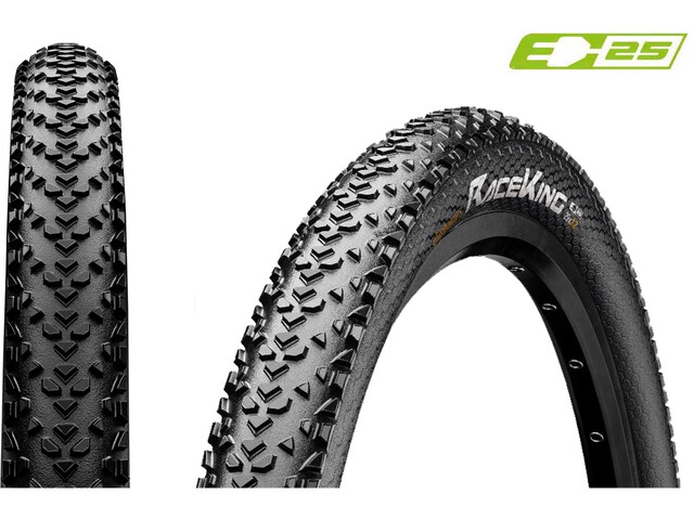 """Continental Race King 2.2 Clincher Tyre 27.5x2.20"""" Performance Reflex E-25, zwart"""